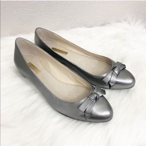 Louise et Cie Alyssa Silver Ballet Flats